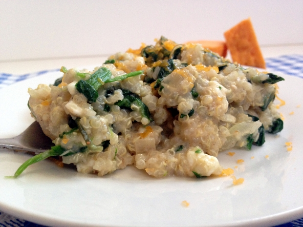 Cheesy Cauliflower and Spinach Quinoa 2