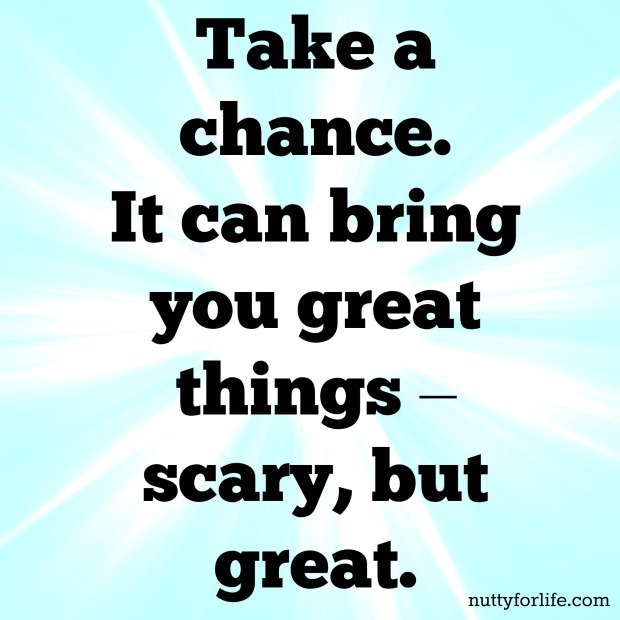 image quote saying take a chance